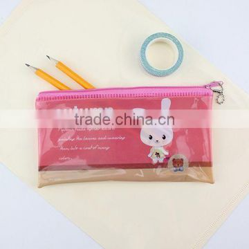 XG-3003 custom printed waterproof pencil bag cartoon pencil bag plastic pencil bag