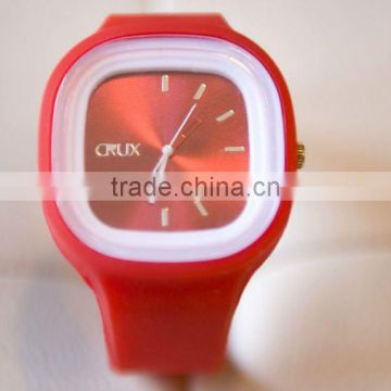 square big face jelly silicone wristwatch