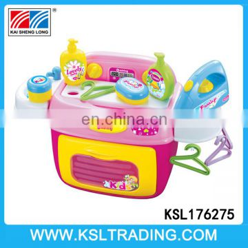 Pretend play washing machine set with music and light