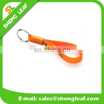 Wholesale Custom Logo Debossed Solid Silicone Keychain