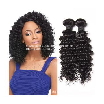 9A Brazilian Deep Wave 3 Bundles Human Virgin Hair Weave HAIRVILLA HAIR