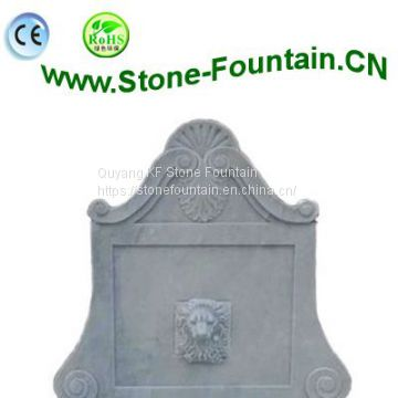 White Marble Wall Fountain For Outdoor Villa