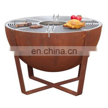 amazon top seller 2018 corten steel fire pit barbecue grill bbq gas grill bbq grill