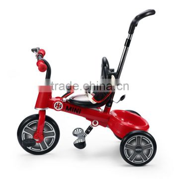 Steel and plastic meterial Best seller MINI cooper Baby tricycle for little kids