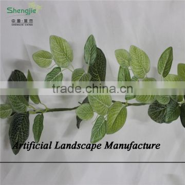 SJZJN 2579 artificial plants and trees/artificial hanging leaves with artificial flowers