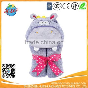 new design animal cotton kids hooded bath towel