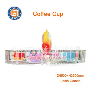 Zhongshan amusement theme park equipment, Outdoor Playground Fairground Tea cup 24 seat coffee cup rotating revovling