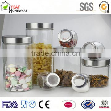 High quality glass kitchenware seasoning bottle pasta storage canister jar