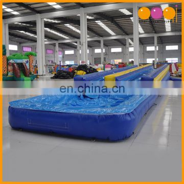 AOQI water park duel lanes inflatable water slide with pool