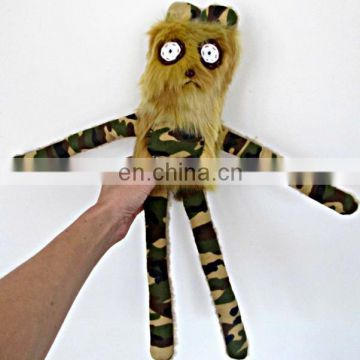 handmade plush brown faux fur camouflage bear toy