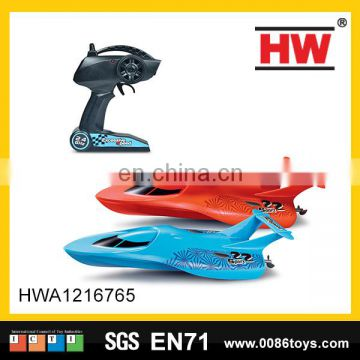 hot sale 4 channels racing boat work in water remote control boat for adults
