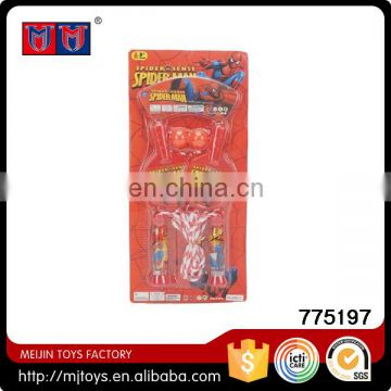 Hot Selling Cartoon table tennis bats and jumping rope skipping sport play set toy to kids