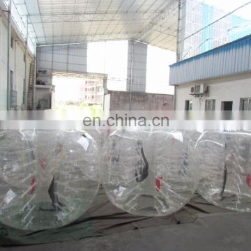 Hot selling soccer bubble ball suit inflatable balls for people with high quality
