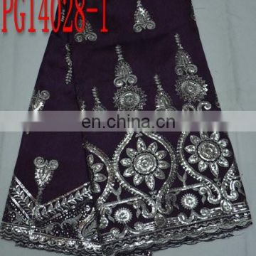 top quality fashion new design embroidery george fabric for dress(PG14028)