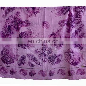 Printed fashion muslim women polyester turkey-chiffon square head scarf
