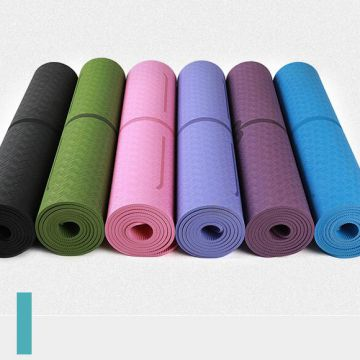 Sgs Certified 8.0mm Thick Body Alignment Tpe Yoga Mat