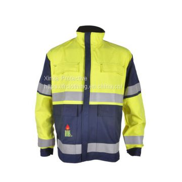 Navy Insect Repellent FR Work Jacket For Forestry