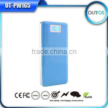 Promotional phone charging bank 12000 slim power bank with real capacity