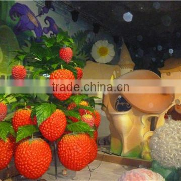 theme park decoration fruit big strawberry sculpture