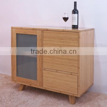 Single bamboo cabinet for kitchen furniture