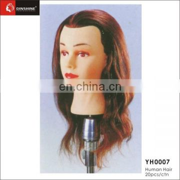 100% Real Human Hair Mannequin Head Hairdressing Training Head