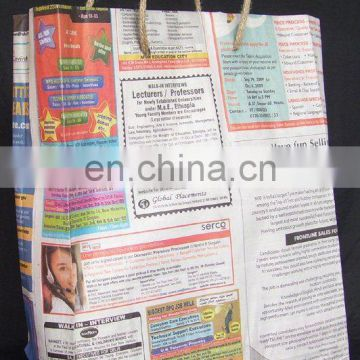newspaper bag/eco-friendly bag/recycle shopping bag