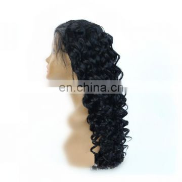 large in stock ! frontal lace wigs remy peruvian human hair loose wave color 1# hair wigs