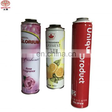 Utility diameter 52mm empty aerosol spray tin can with print for hair spray
