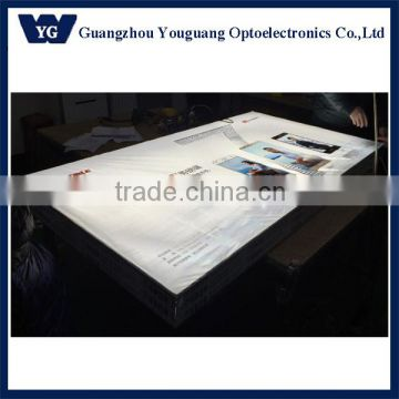 Backlit LED fabric display board for mobile store, fabric led light display advertising board