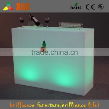 Outdoor plastic led bar table bright led table Outdoor plastic table
