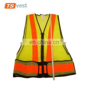 PVC reflective strips security waistcoat for traffic protection