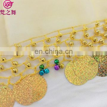 P-9088 Organza retangle big sequins 50*50cm belly dance veil