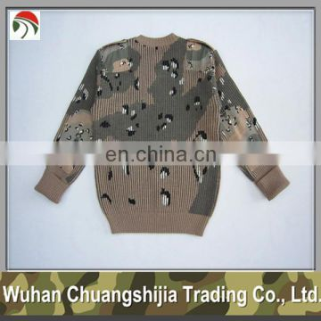 desert camouflage military pullover