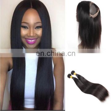pre plucked 360 lace frontal with bundles body wave silk base 360 lace frontal closure