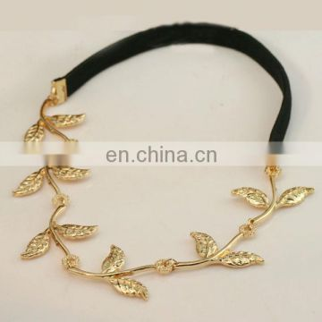Western fashion new design gold leaf hair band