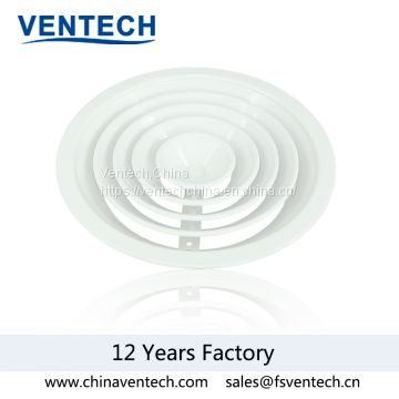 movable core air diffuser aluminum round diffuser  circular diffuser