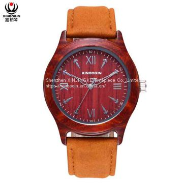 XINBOQIN Supplier Custom Personalized Stylish Cheap Elegant Quartz Men Wood Watch