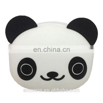 Cute China panda coin bag silicone billfold wallet purse Promotion Women Key Wallet