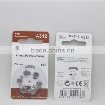 Battery Type hearing aid batteries hearing aid battery PR48 A10 A13 A312 A675