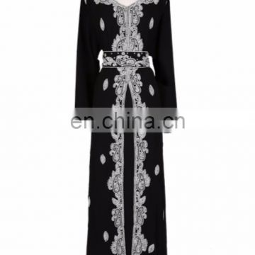 Elegant Kaftan embelished with beautiful beads and crystal decor pakistani dress for women