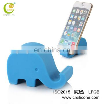 Elephant shape Novelty printable elephant silicone mobile phone holder, smartphone display suction stand