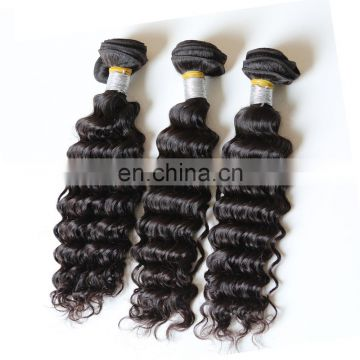 deep wave unprocessed peruvian 100% virgin human hair bundles extension