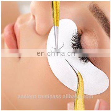 Eyelash Extension Tweezers Gold color 2pcs Straight+Bend Tweezer for Eyelash Extensions,Nail art Nippers