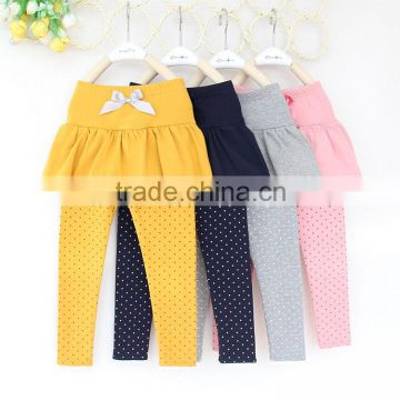 2016 spring fashion children wear skirt and pants baby girl cotton dot leggings wholesale