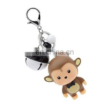 Cartoon Monkey keychain car bell key bag pendant