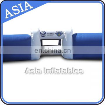 New design double wall blue inflatable soccer pich / football arean for club events