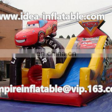 custom inflatable car shape obstacle course ID-OB034