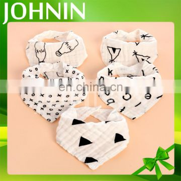 hot selling wholesale organic cotton triangle bandana baby drool bibs