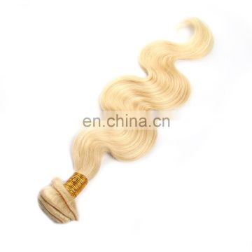 Cuticle aligned hair Blonde virgin brazilian thick new style wave hair