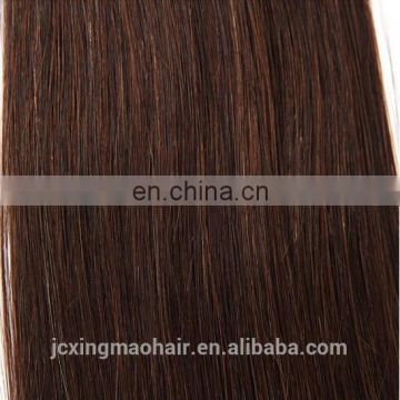 Best selling high quality 100%Remy Human brazilian hair weave brown color 4